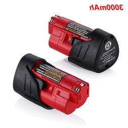 For Milwaukee M12 48-11-2401 Li-Ion Lithium 12V 12 Volt 3000