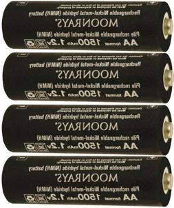 Moonrays 97143 4-Pack AA NiMh Pre-Charged Rechargeable Batte