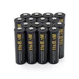 Mr.Batt High-Capacity AA Rechargeable Batteries  2600mAh, Pr