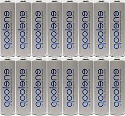 Newest Version Panasonic Eneloop 16 Pack AA NiMH Pre-Charged