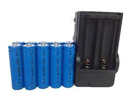 ON THE WAY®10pcs 2000mah ICR 14500 3.7V AA Rechargeable Li-