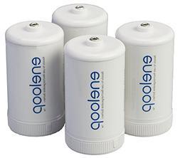Panasonic BQ-BS1E4SA eneloop D Size Battery Adapters for Use