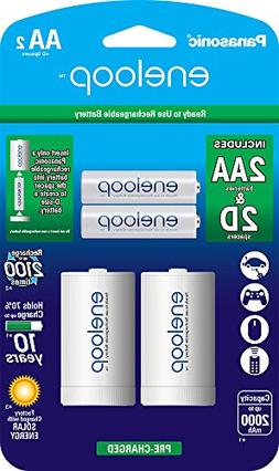 Panasonic K-KJS1MCA2BA eneloop D Size Battery Adapters with