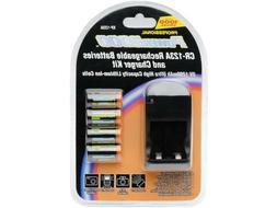 Power2000 XP-123A -  CR123A Lithium Rechargeable Batteries &