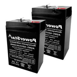 2PACK 6V 5Ah  Rechargeable Battery for Alarms, ATV's and mot