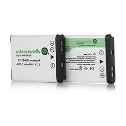 Powerextra 2 x EN-EL19 batteries Compatible with Nikon Coolp