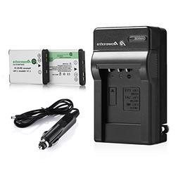 Powerextra 2 x Batteries + Charger EN-EL19 for Nikon Coolpix