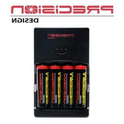 Precision Design AA 2900mAh NiMH Rechargeable Batteries & Ch
