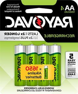 RAYOVAC AA 4-Pack RECHARGEABLE Batteries, LD715-4OP GENE