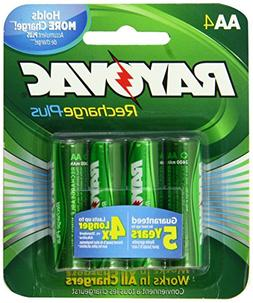 Rayovac Recharge PLUS High-Capacity Rechargeable 2400 mAh Ni