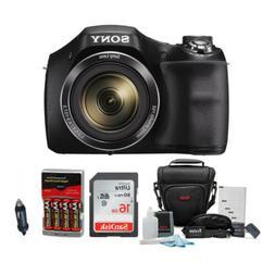 Sony DSC-H300 Digital Camera w/Rechargeable AA Batteries &16