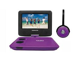 Sylvania SDVD7043-PURPBLK 7-Inch Portable DVD Player with Ma