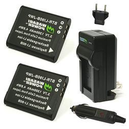 Wasabi Power Battery  and Charger for Olympus LI-90B, LI-92B