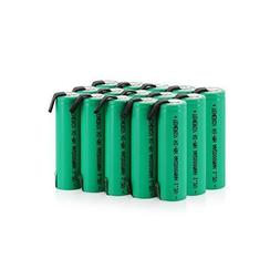 Tenergy AA 2000mAh NiMH Rechargeable Battery AA Flat Top w/