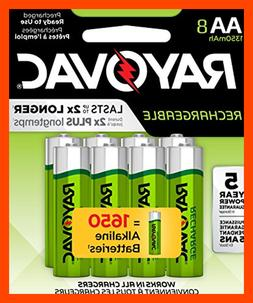 AA 8 Pack RECHARGEABLE Batteries LD715 8OP GENE Health Perso