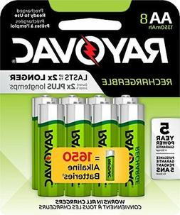 aa 8 pack rechargeable batteries ld715 8op
