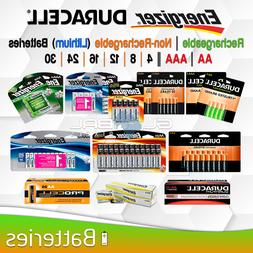 AA AAA Battery Energizer Duracell Lithium OR Rechargeable 4