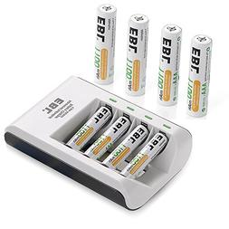 EBL AAA Rechargeable Batteries 8Pcs 1100mAh and USB Input Sm