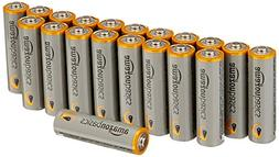 AmazonBasics AA Performance Alkaline Batteries, 20 Count