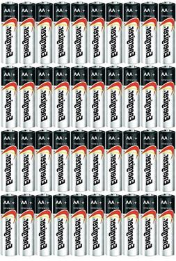 100 pack Energizer AA Max Alkaline E91 Batteries Made in USA