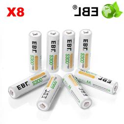 8Pack AA NIMH Rechargeable Battery 2300mAh For Flashlight To