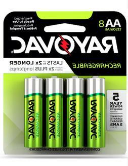 Rayovac AA Rechargeable Batteries Battery 1350mAh NiMH  ~ 8
