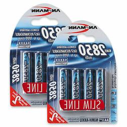 ANSMANN 2850 mAh AA High Capacity Rechargeable Batteries 8 P