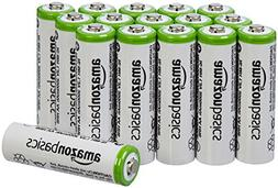 AmazonBasics AA Rechargeable Batteries 16-Pack - Packaging M