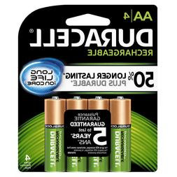 Duracell AA Rechargeable Battery Recharge Battery AA4 NiMH 4