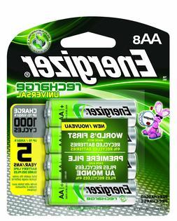 AA8 AA Energizer Universal Rechargeable NiMH Batteries EXP 2