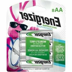AA8 Energizer Recharge Power Plus Rechargeable AA Batteries