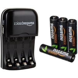 AmazonBasics AAA High-Capacity Rechargeable Batteries  and N