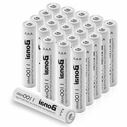 BONAI 24 Pack 1100mAh AAA Rechargeable Batteries 1.2V Ni-MH