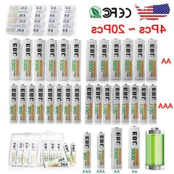 EBL AAA AA Ni-MH Rechargeable Batteries Pack for Camera Flas