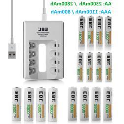 EBL AAA AA NiMh Rechargeable Battery 800mah 1100mAh 2300mah