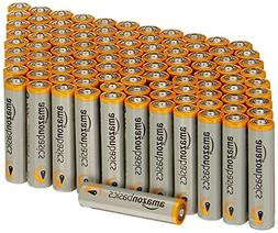 AAA Alkaline Batteries Amazon Basics 100 Pack NEW