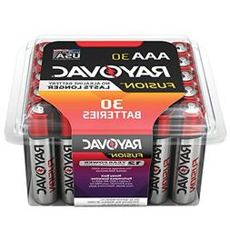 RAYOVAC AAA 30-Pack FUSION Premium Alkaline Batteries, 824-3