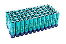 60 pcs of Tenergy AAA 1000mAh High Capacity NiMH Rechargeabl