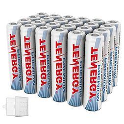 Tenergy 24 Pack Premium Rechargeable AAA Batteries, High Cap
