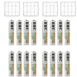 16PCS EBL 1100mAh AAA Ni-MH Rechargeable Battery for Flashli