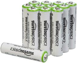 AmazonBasics AAA Rechargeable Batteries  Pre-charged - 12 Pa