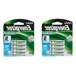 Energizer AAA Rechargeable Batteries 4 Pack, 2 Count = 8 Bat