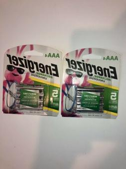 Energizer AAA Rechargeable batteries 4 Pack - Lot Of 2 - 8 T