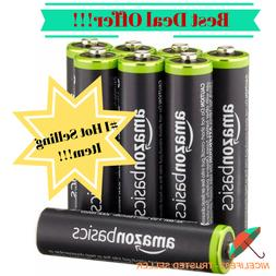 AmazonBasics AAA Rechargeable Batteries  Pre-charged Solar E