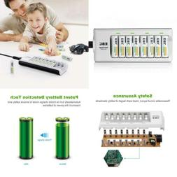EBL 808  Rapid 8 Bay Smart AA AAA Battery Charger with 8pcs