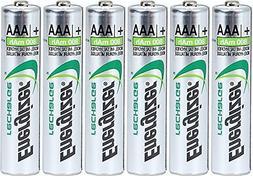 Energizer AAA Rechargeable NiMH Battery 800 mAh 1.2V x six