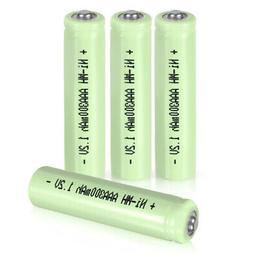 4Pcs 1.2V AAA300mAh Tip Head Rechargeable Ni-MH Battery Gree