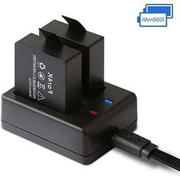 Action Camcorders Camera Battery Rechargeable Dual 1050mAh A