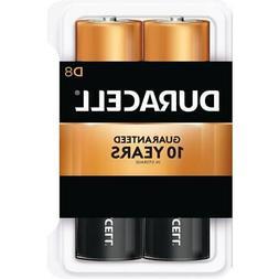 Alkaline Battery, D Size, 8/PK