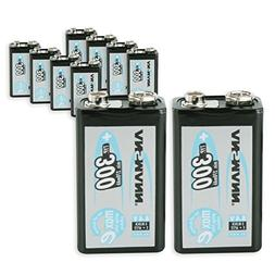 ANSMANN 9V Rechargeable Batteries 300mAh pre-charged Low Sel